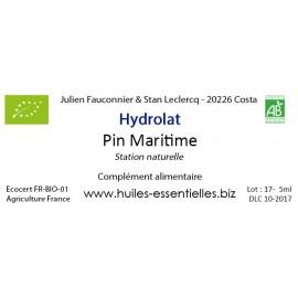 Hydrolat de Pin Maritime FR BIO 01