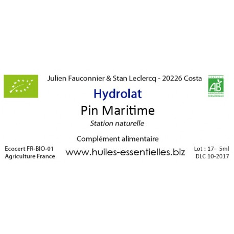 Hydrolat de Pin Maritime